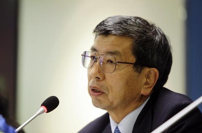11月12日、アジア開発銀行の中尾武彦総裁は都内で講演し、中国経済について「財政・金融政策の発動余地がある」ため「ハードランディングはない」との見解を示した。写真は北京で昨年10月撮影(2015年 ロイター/Jason Lee)