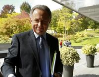 Russian Sports Minister and member of the FIFA executive committee Vitaly Mutko arrives  in front of the FIFA headquarters before a meeting of the FIFA executive committee in Zurich, Switzerland September 24, 2015. REUTERS/Arnd Wiegmann