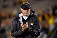 Nov 5, 2015; Columbia, MO, USA; Missouri Tigers head coach Gary Pinkel looks on prior to the game against the Mississippi State Bulldogs at Faurot Field. Mandatory Credit: Jasen Vinlove-USA TODAY Sports