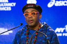 Director Spike Lee speaks at a news conference about being the Grand Marshal for the upcoming New York City Marathon in New York, October 29, 2015. REUTERS/Lucas Jackson/Files