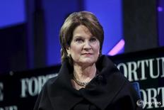 Marillyn Hewson, Chairman, President and CEO of Lockheed Martin, participates in a panel discussion at the 2015 Fortune Global Forum in San Francisco, California November 3, 2015. REUTERS/Elijah Nouvelage