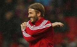 David Beckham durante jogo amistoso promovido pela Unicef, na Inglaterra.  14/11/2015  Reuters / Phil Noble Livepic