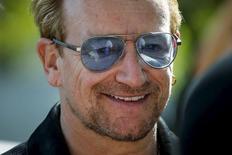 Cantor irlandês do U2 Bono em Nova York. 29/07/2015 REUTERS/Eduardo Munoz