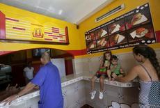 "A view of the private cafeteria ""Mcdunald"" in Villa Clara province, Cuba, November 14, 2015.  REUTERS/Enrique de la Osa"