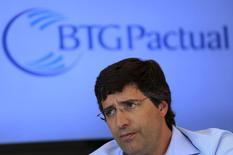 Presidente e controlador do banco BTG Pactual, Andre Esteves, durante entrevista em São Paulo, no ano passado 22/07/ 2014. REUTERS/Nacho Doce