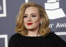 British singer Adele arrives at the 54th annual Grammy Awards in Los Angeles, California February 12, 2012.   REUTERS/Danny Moloshok/files
