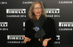 Photographer Annie Leibovitz poses at the launch of the Pirelli Calendar 2016 in London, Britain November 30, 2015. REUTERS/Neil Hall
