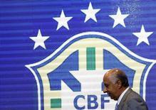 Presidente da CBF, Marco Polo Del Nero, durante evento no Rio de Janeiro.   17/09/2015     REUTERS/Sergio Moraes