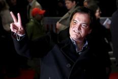 """Diretor Quentin Tarantino chega à pré-estreia europeia de """"Os Oito Odiados"""", na Leicester Square, em Londres, na quinta-feira. 10/12/2015 REUTERS/Luke MacGregor"""
