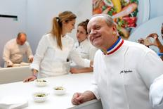 French Chef Joel Robuchon attends the opening of the Taste Festival at the Grand Palais in Paris, France, May  21, 2015. REUTERS/Charles Platiau