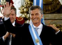 Mauricio Macri durante posse como presidente da Argentina.  10/12/2015. REUTERS/Marcos Brindicci