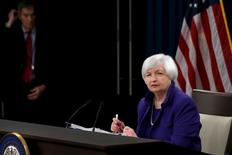 U.S. Federal Reserve Chairman Janet Yellen listens to a reporter's question during a news conference in Washington December 16, 2015.  REUTERS/Jonathan Ernst