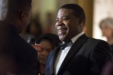 Comedian Tracy Morgan smiles as he speaks to a reporter as he arrives for the Mark Twain prize for Humor honoring Eddie Murphy at the Kennedy Center in Washington October 18, 2015. REUTERS/Joshua Roberts