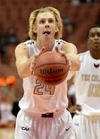 Charleston Cougars guard Canyon Barry takes an underhand free throw in the first half of the game against the Cal State Fullerton Titans in Anaheim, California, in this December 1, 2015 file photo.  Mandatory Credit: Jayne Kamin-Oncea-USA TODAY Sports/Files