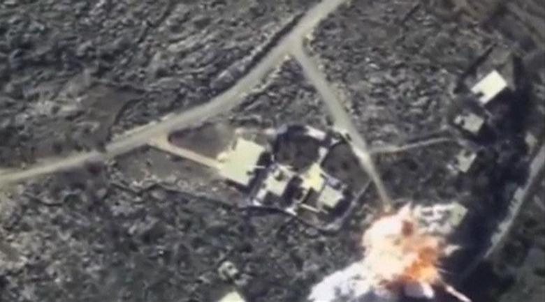 A frame grab taken from footage released by Russia's Defence Ministry November 23, 2015, shows air strikes carried out by Russia's air force hitting objects, which, according to the ministry, are controlled by the Islamic State militants, at an unknown location in Syria. REUTERS/Ministry of Defence of the Russian Federation/Handout via Reuters