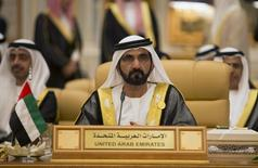 Sheikh Mohammed bin Rashid Al Maktoum, Prime Minister and Vice-President of the United Arab Emirates and ruler of Dubai, attends the Summit of South American-Arab Countries, in Riyadh November 10, 2015. REUTERS/Faisal Al Nasser