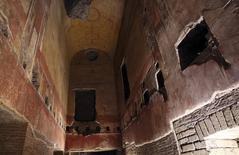Interior do palácio construído pelo imperador Nero em Roma. 24/10/2014  REUTERS/Stefano Rellandini