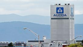 The Great Smoky Mountains are shown in the background in this view of the Alcoa Aluminum plant in Alcoa, Tennessee April 8, 2014. REUTERS/Wade Payne