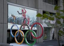 The Olympic rings seen displayed outside the headquarters for the Canadian Olympic Committee (COC) in Montreal, November 9, 2015. REUTERS/Christinne Muschi