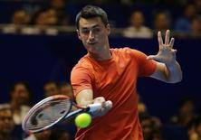 Tennis - International Premier Tennis League - Singapore Indoor Stadium, Singapore - 20/12/15 International Premier Tennis League Final Men's Singles - Indian Aces' Bernard Tomic in action Action Images via Reuters / Jeremy Lee