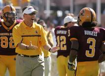 File image of Dirk Koetter in 2005 when he was Arizona State University head coach REUTERS/Ross D. Franklin