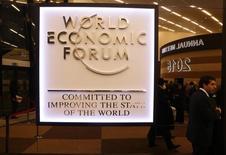 Sessão do Fórum Econômico Mundial em Davos, na Suíça. 22/01/2015                REUTERS/Ruben Sprich