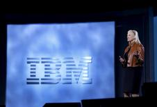 Ginni Rometty, chairman, president and CEO of IBM, speaks during a keynote address at the 2016 CES trade show in Las Vegas, Nevada, January 6, 2016. REUTERS/Steve Marcus