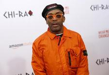 "Spike Lee poses on the red carpet at the premiere of ""Chi-Raq"" in New York December 1, 2015.   REUTERS/Shannon Stapleton/Files"
