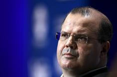 Presidente do Banco Central, Alexandre Tombini  8/10/2015.   REUTERS/Paco Chuquiure