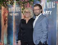 "Former Abba member Bjorn Ulvaeus and his wife Lena Kallersjo arrive for the premiere of ""Mamma Mia! The Party"" at Tyrol restaurant in Stockholm, Sweden, January 20, 2016. REUTERS/Anders Wiklund/TT News Agency"