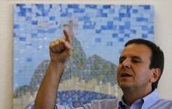 Rio de Janeiro's Mayor Eduardo Paes attends an interview with Reuters, in Rio de Janeiro, Brazil August 4, 2015. REUTERS/Ricardo Moraes