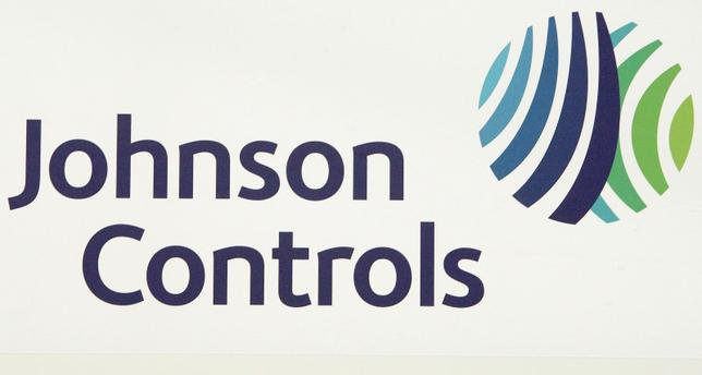 The logo of the U.S. Johnson Controls company is seen in Nersac, southwestern France, January 31, 2008.  REUTERS/Regis Duvignau