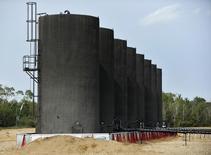 Нефтехранилища на месторождении Мэйдсон в провинции Саскачеван, Канада, 27 августа 2015 года. Странам-членам ОПЕК и не входящим в картель добытчикам нужно вместе постараться сократить избыток нефти на рынке, чтобы повысить цены и возобновить инвестиции в новые месторождения, сказал в понедельник генсек организации. REUTERS/Dan Riedlhuber