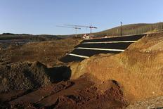 A general view of the construction site of a mine of Hellas Gold, a subsidiary of Canadian mining company Eldorado Gold Corp, in Skouries, in the Halkidiki region, northern Greece in this February 15, 2015 file photo. REUTERS/Alexandros Avramidis