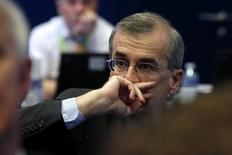 Selon le gouverneur de la Banque de France, François Villeroy de Galhau, la France doit poursuivre sur la voie des réformes et faire plus pour lutter contre le chômage. /Photo prise le 12 janvier 2016/REUTERS/Philippe Wojazer