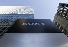 A logo of Sony Corp is seen outside its headquarters in Tokyo, Japan, January 27, 2016. Picture taken January 27, 2016. REUTERS/Yuya Shino