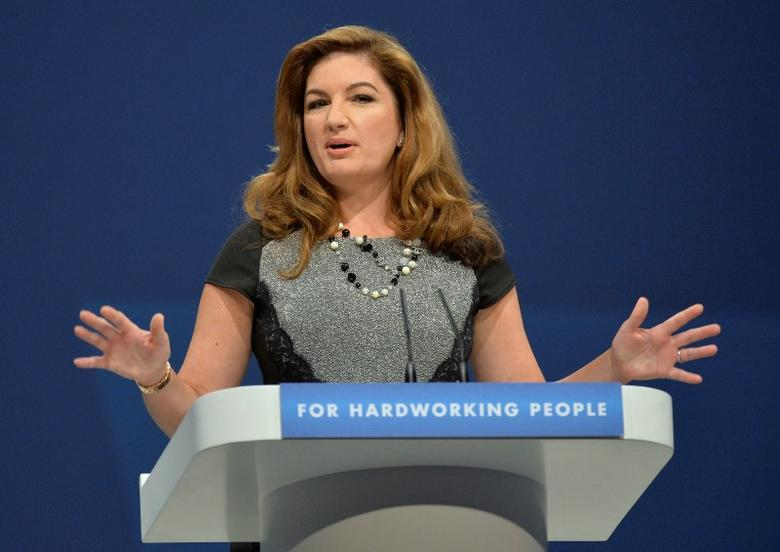 British business woman Karren Brady delivers her speech at the annual Conservative party conference in Manchester, northern England September 30, 2013. REUTERS/Toby Melville