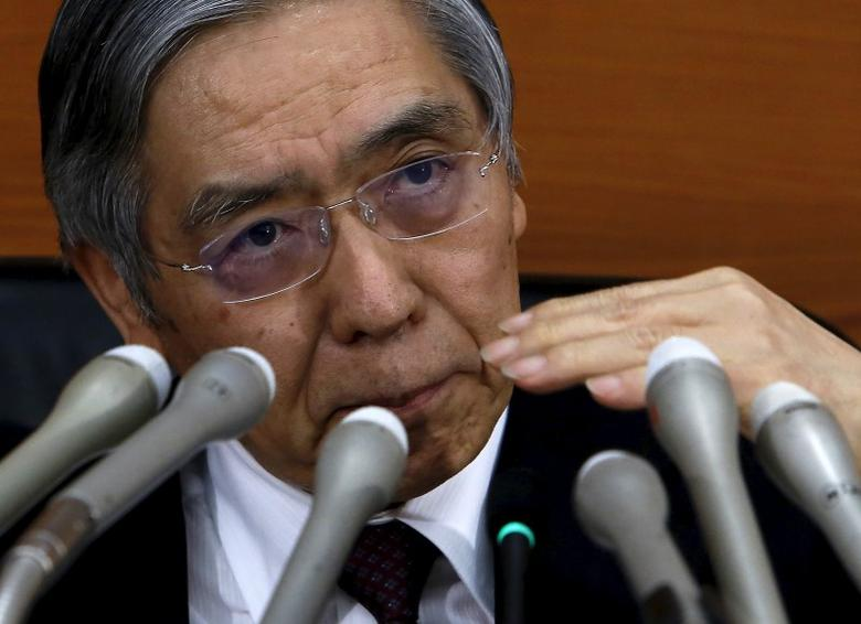 Bank of Japan (BOJ) Governor Haruhiko Kuroda speaks during a news conference at the BOJ headquarters in Tokyo, Japan, January 29, 2016. REUTERS/Yuya Shino