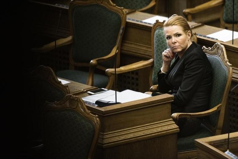 Denmark's Minister of Immigration and Integration Inger Stojberg listens to the debate in the Danish Parliament, January 26, 2016.  REUTERS/Mathias Loevgreen Bojesen/Scanpix
