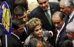 Dilma, na chegada ao Congresso  2/2/2016 REUTERS/Adriano Machado