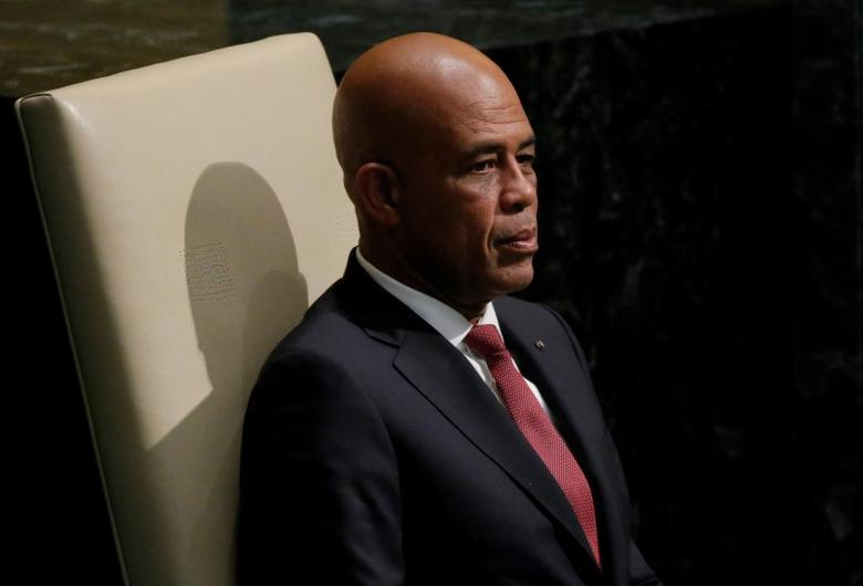 President Michel Joseph Martelly of Haiti waits to address attendees during the 70th session of the United Nations General Assembly at the U.N. Headquarters in New York, October 1, 2015.   REUTERS/Carlo Allegri