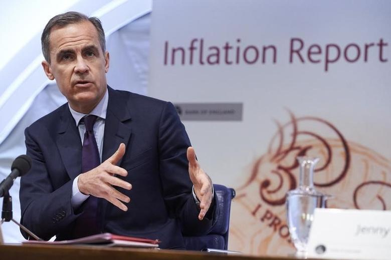 The Governor of the Bank of England, Mark Carney, speaks during the quarterly Inflation Report press conference in central London, February 4, 2016.   REUTERS/Niklas Hall'en/Pool
