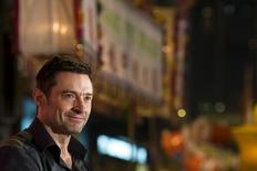 "Australian actor Hugh Jackman arrives at the ""Tai Hang Fire Dragon Dance"" event to celebrate the Mid-Autumn Festival during a trip to promote his latest film ""Pan"" in Hong Kong, China September 28, 2015.   REUTERS/Tyrone Siu"