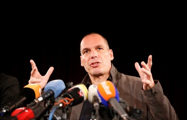 Greece's former Finance Minister Yanis Varoufakis addresses a news conference to introduce the so-called DiEM 25  (Democracy in Europe Movement 2025) at the Volksbuehne theatre in Berlin, Germany, February 9, 2016. REUTERS/Fabrizio Bensch