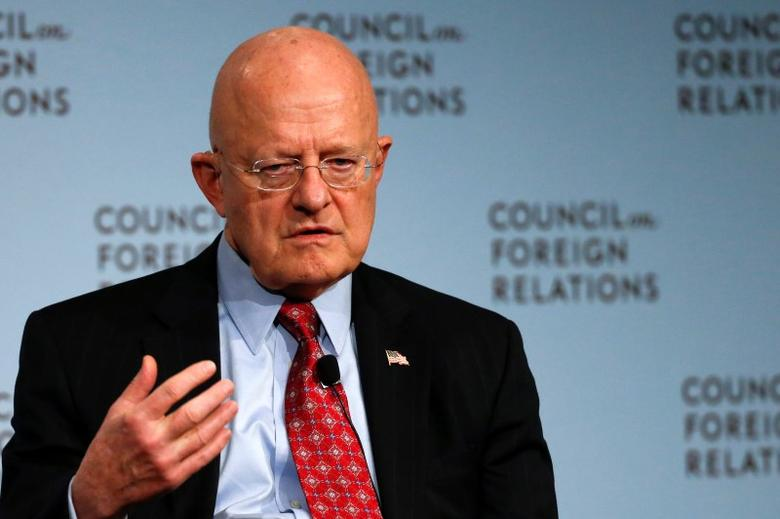 Director of U.S. National Intelligence James Clapper speaks at the Council on Foreign Relations in New York March 2, 2015. REUTERS/Shannon Stapleton