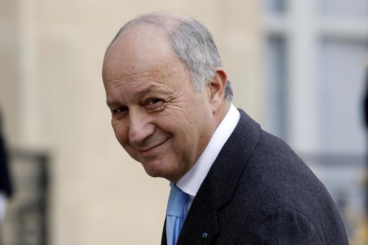 French Foreign Affairs Minister Laurent Fabius arrives at the Elysee Palace in Paris, France, February 8, 2016. REUTERS/Philippe Wojazer