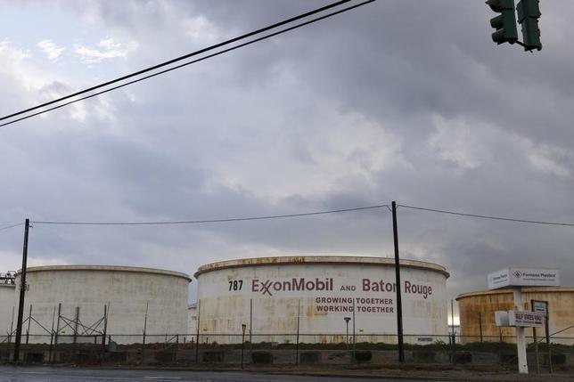 Storage tanks are seen inside the Exxonmobil Baton Rouge Refinery in Baton Rouge, Louisiana, November 6, 2015. REUTERS/Lee Celano