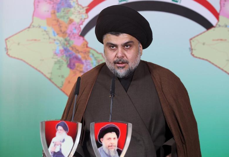 Prominent Iraqi Shi'ite cleric Moqtada al-Sadr delivers a statement in Najaf, Iraq February 13, 2016. REUTERS/Alaa Al-Marjani