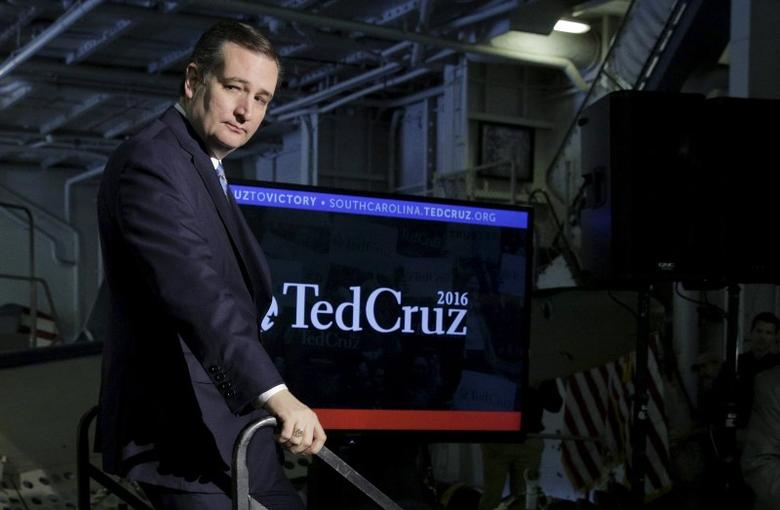 U.S. Republican presidential candidate Senator Ted Cruz (R-TX) walks from the stage at a campaign event on the USS Yorktown in Mount Pleasant, South Carolina February 16, 2016. REUTERS/Joshua Roberts SAP is the sponsor of this content. It was independently created by Reuters' editorial staff and funded in part by SAP, which otherwise has no role in this coverage. . SAP is the sponsor of this content. It was independently created by Reuters' editorial staff and funded in part by SAP, which otherwise has no role in this coverage.