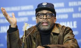 Director Spike Lee attends a news conference to promote the movie 'Chi-Raq' at the 66th Berlinale International Film Festival in Berlin, Germany February 16, 2016.         REUTERS/Fabrizio Bensch
